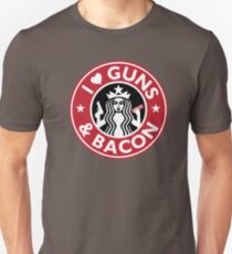 I Love GUNS AND BACON Shirt Funny Gun T-Shirt Unisex T-Shirt