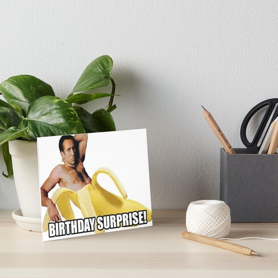Nicolas Cage - sorpresa de cumpleaños Lámina rígida