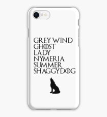 Stark Direwolves iPhone Case/Skin