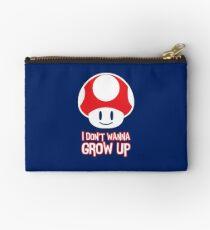 Mario Mushroom - I Don't Want to Grow Up (Happy Face) Studio Pouch