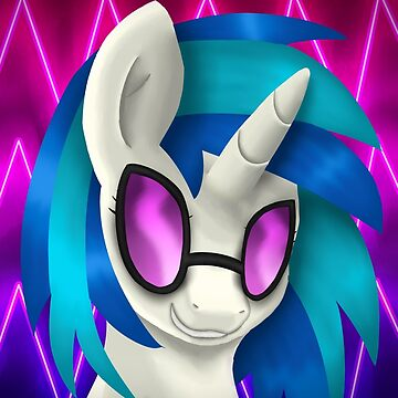Vinyl Scratch Portrait (With Glasses) by LegendDestroye