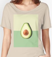 Avocado Half Slice Tropical Fruit Women's Relaxed Fit T-Shirt