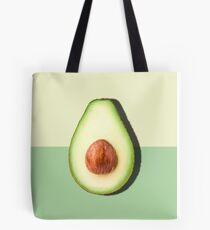 Avocado Half Slice Tropical Fruit Tote Bag