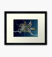 Basel Citymap Artwork | PEGASUS Framed Print