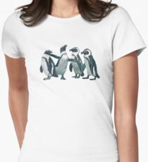 penguin party Women's Fitted T-Shirt
