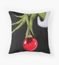Merry Christmas from mister Grinch Throw Pillow