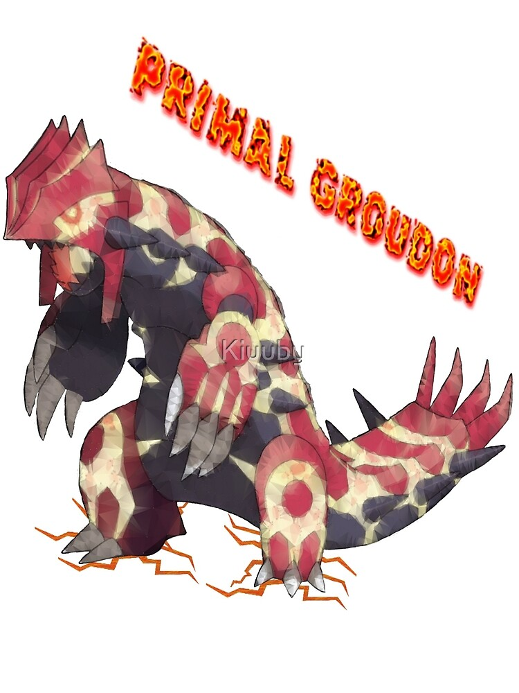 Primal Groudon Pokemon Omega Ruby Photographic Print