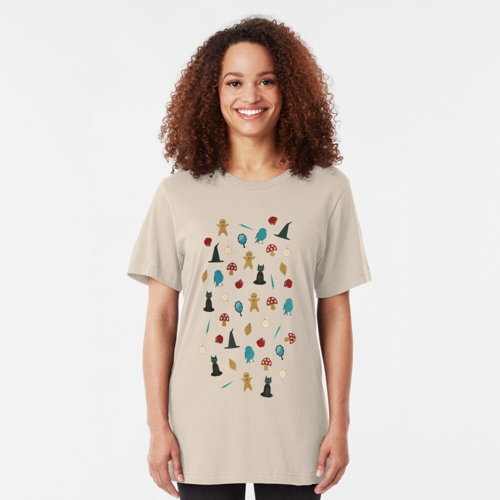 Fairytale Pattern Slim Fit T-Shirt