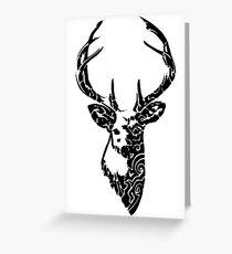 Tribal Deer Greeting Card