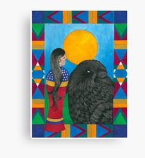 Crow Woman Canvas Print