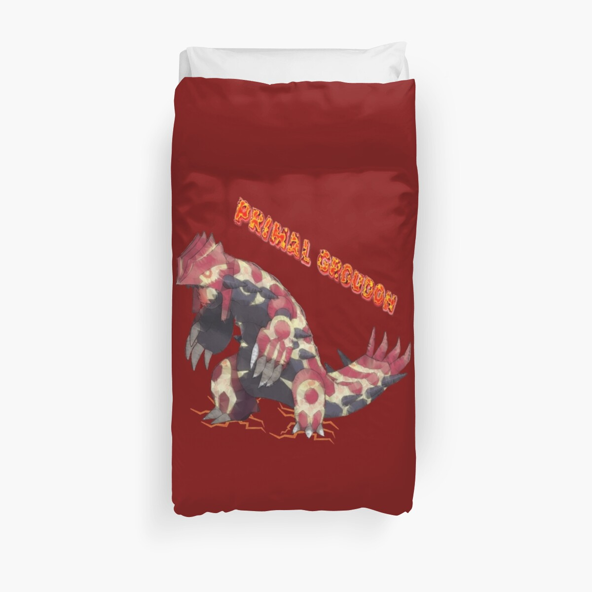 Quot Primal Groudon Pokemon Omega Ruby Quot Duvet Covers By