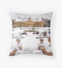 Reigate Priory School in wintertime Throw Pillow