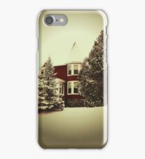 Vintage Style Winter Scene iPhone Case/Skin