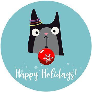 Happy Holidays Cat by bsilvia