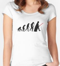 Evolution  lightsaber Women's Fitted Scoop T-Shirt