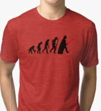 Evolution  lightsaber Tri-blend T-Shirt