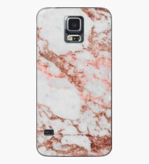 Stylish white marble rose gold glitter texture image Case/Skin for Samsung Galaxy