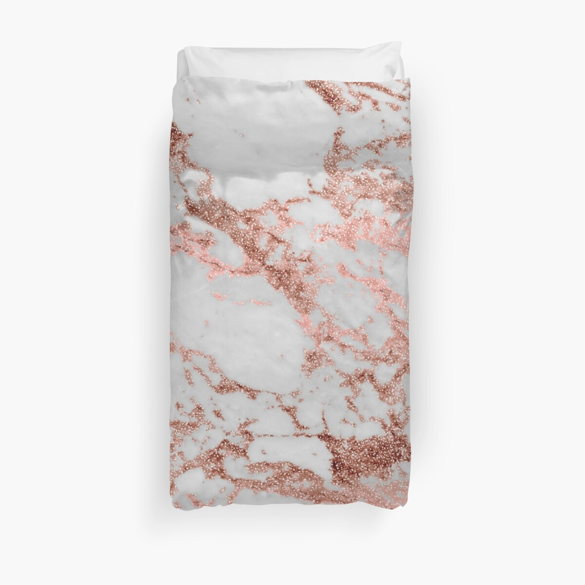 Quot Stylish White Marble Rose Gold Glitter Texture Image