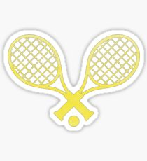 Tennis Sticker Gelb Sticker