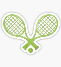 Tennisschläger Grün Sticker