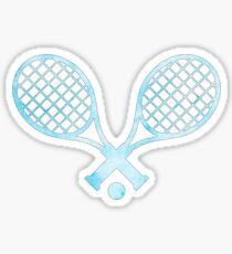 Tennisschläger Hellblau Sticker