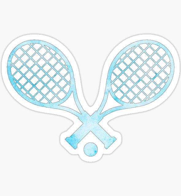 Tennis Racket Light Blue by hcohen2000