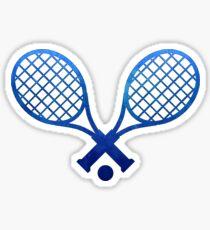 Tennisschläger Dunkelblau Sticker