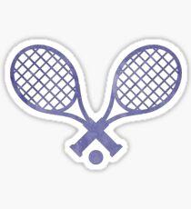Tennisschläger Lila Sticker