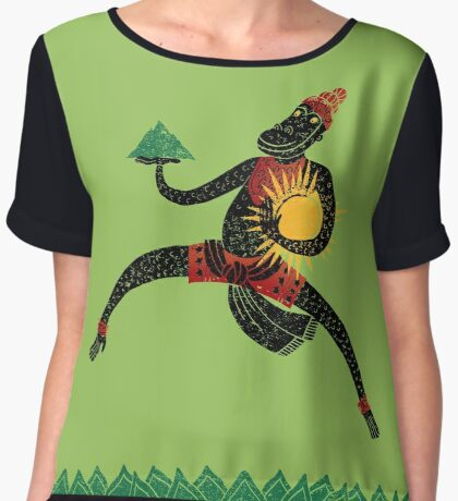 Hanuman's Leap Women's Chiffon Top