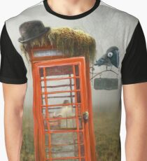 Phonebox Cottage Graphic T-Shirt