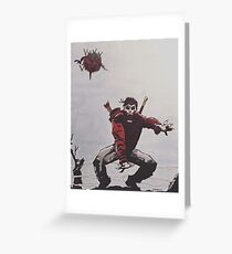 Five Ghosts Greeting Card