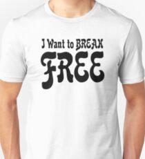 the queen freddie mercury rock band rocker freedom t shirts Unisex T-Shirt