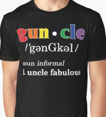 Gay Uncle Definition Shirt Gay Uncle is Fabulous Pride Shirt Graphic T-Shirt