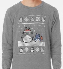 Santa-Totoro Weihnachtsstrickjacke Leichtes Sweatshirt