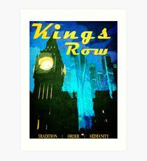 King's Row Vintage Travel Poster Art Print