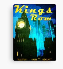 King's Row Vintage Travel Poster Canvas Print