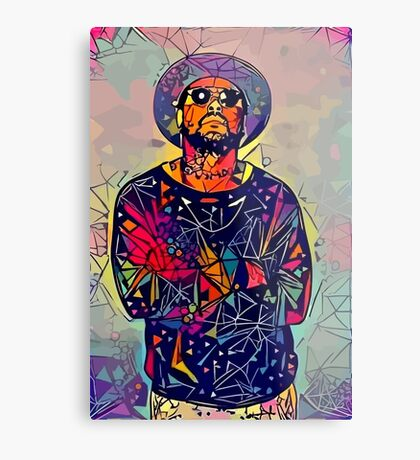Abstract Schoolboy Q Metal Print