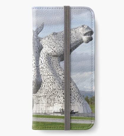 the Kelpies , Helix Park , Grangemouth  43112 iPhone Wallet