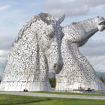 the Kelpies , Helix Park , Grangemouth  43112 by goldyart