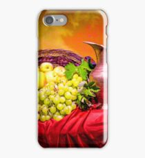Copper jug and grapes  iPhone Case/Skin