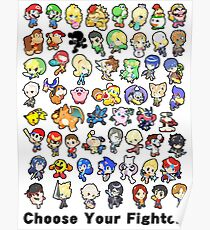 Super Smash Bros. All 58 Characters! Choose Your Fighter!! Poster