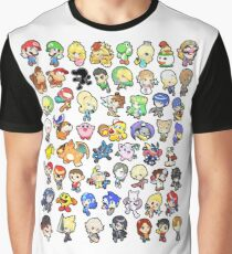 Super Smash Bros. All 58 Characters!! Graphic T-Shirt