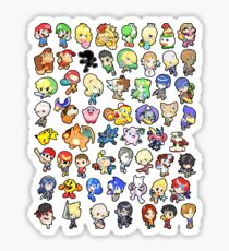 Super Smash Bros. All 58 Characters!! Sticker