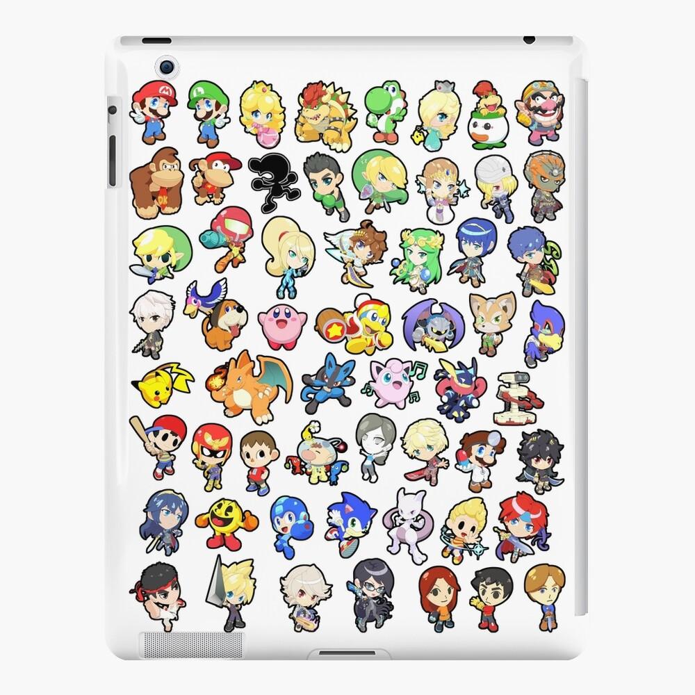 Super Smash Bros. ¡Los 58 personajes! Funda y vinilo para iPad