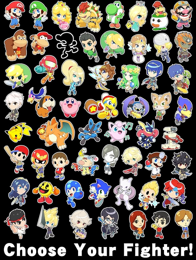 Super Smash Bros. All 58 Characters! Choose Your Fighter! by SSBFighters