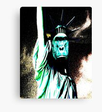 harambe statue of liberty mash up Canvas Print