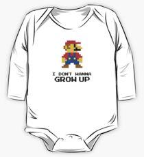 Mario - I Don't Wanna Grow Up One Piece - Long Sleeve