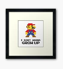 Mario - I Don't Wanna Grow Up Framed Print