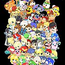 Super Smash Bros. All 58 Characters! Choose Your Fighter! Group by SSBFighters