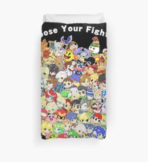 Super Smash Bros. All 58 Characters! Choose Your Fighter! Group Duvet Cover